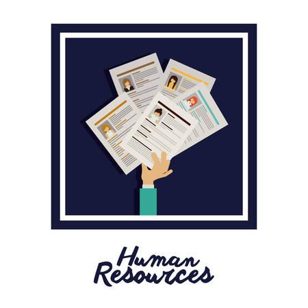 Human resources digital design, vector illustration