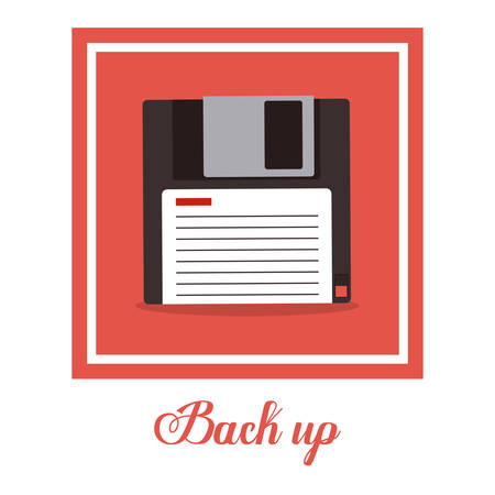 back up: Back up digital design, vector illustration eps 10 Illustration