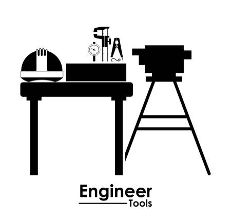 civil engineers: Engineer digital design, vector illustration