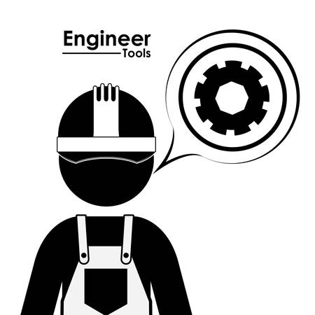 civil engineers: Ingeniero de dise�o digital, ilustraci�n vectorial