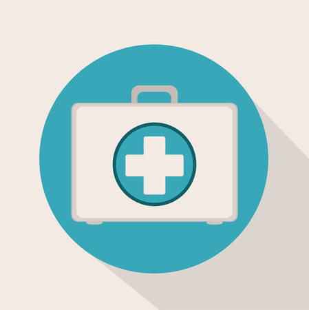 biomedical: Icona medica digitale disegno, illustrazione vettoriale