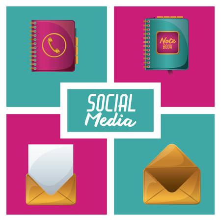 adress: Social Media digital design, vector illustration eps 10