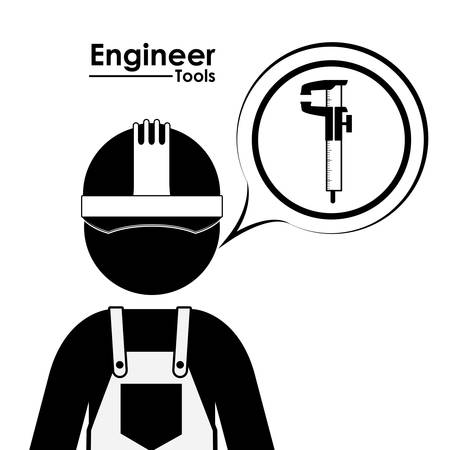 civil engineers: Engineer digital design, vector illustration Illustration