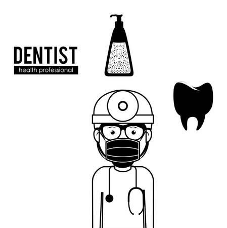hygienist: Dentist digital design, vector illustration eps 10