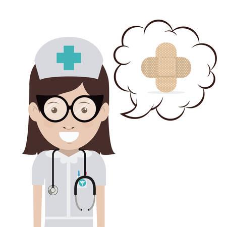 mentors: Doctor digital design, vector illustration