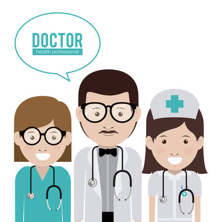 mentors: Doctor digital design, vector illustration  Illustration