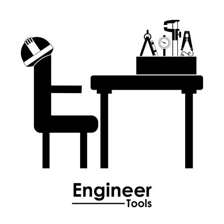 civil engineers: Engineer digital design, vector illustration Vectores