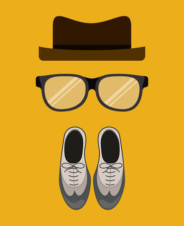 businessman shoes: Men digital design, vector illustration