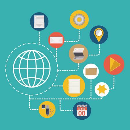 investment security: Data Base digital design, vector illustration eps 10 Illustration