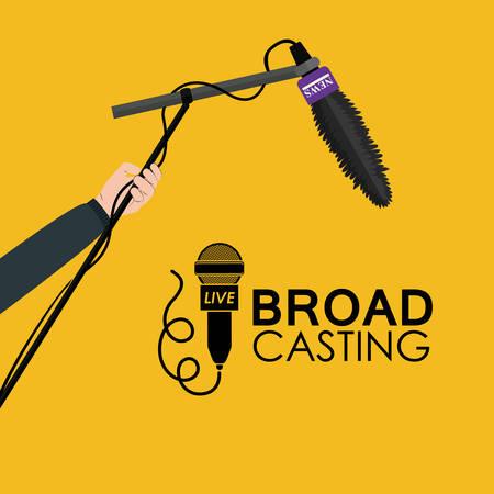 production: Broadcasting digital design, vector illustration eps 10