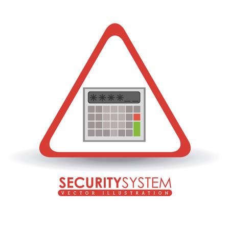 security system: Security System digital design, vector illustration eps 10 Illustration
