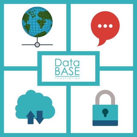 data base: Data Base digital design, vector illustration eps 10 Illustration