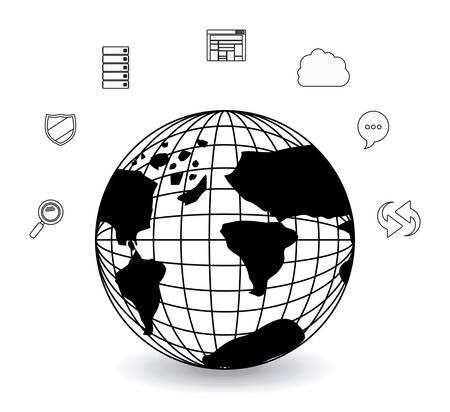 bases de donn�es: Base de donn�es de conception num�rique, illustration vectorielle eps 10