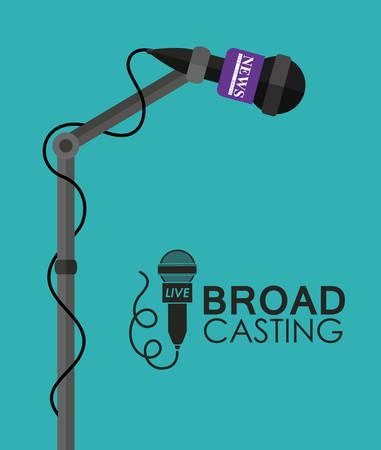 broadcasting: Broadcasting digital design, vector illustration eps 10