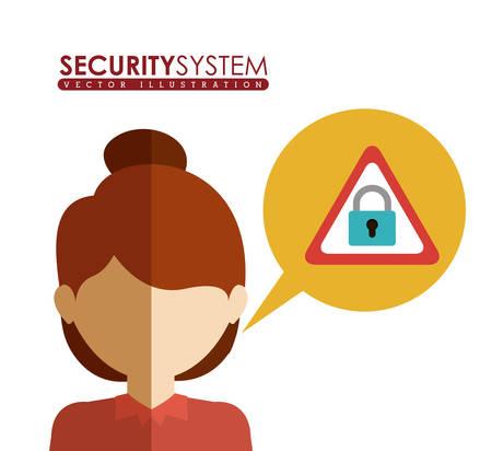 dangerous woman: Security System digital design, vector illustration eps 10 Illustration