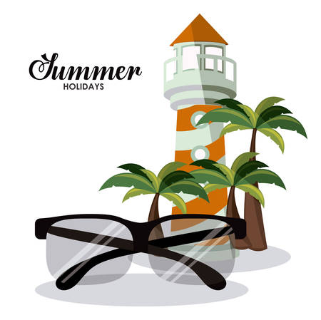palm reading: Summer Glasses digital design, vector illustration eps 10