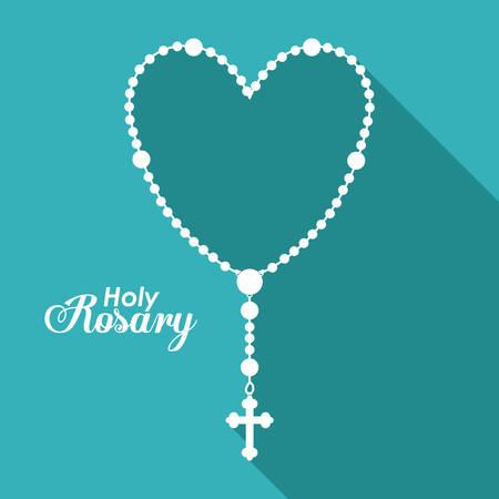 Holy Rosary digital design, vector illustration eps 10