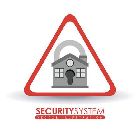 value system: Security System digital design, vector illustration eps 10 Illustration