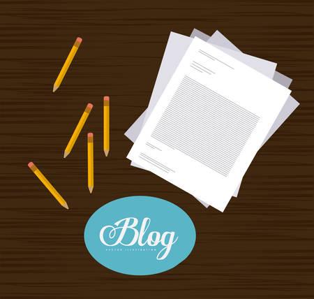 blogger: Blogger digital design, vector illustration eps 10
