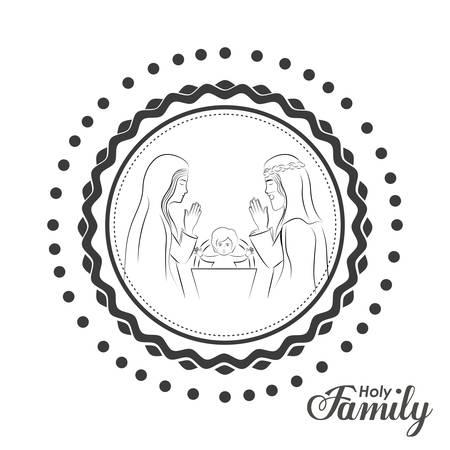 nativety: Holy Family digital design, vector illustration eps 10 Illustration