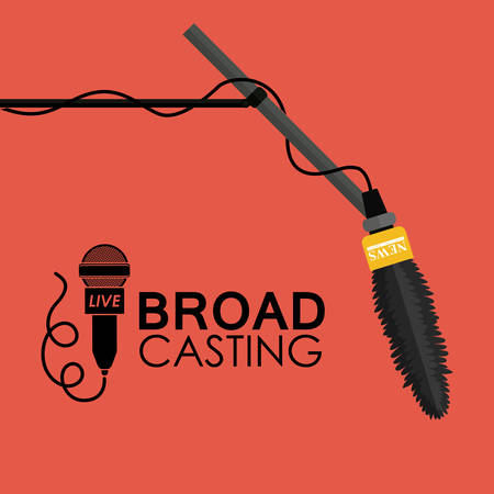 Broadcasting digital design, vector illustration eps 10