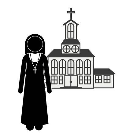 sanctuaries: Church digital design, vector illustration eps 10 Illustration