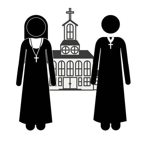 congregation: Church digital design, vector illustration eps 10 Illustration