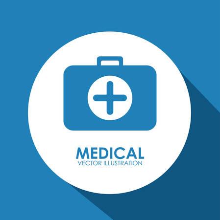 Medical care digital design, vector illustration eps 10