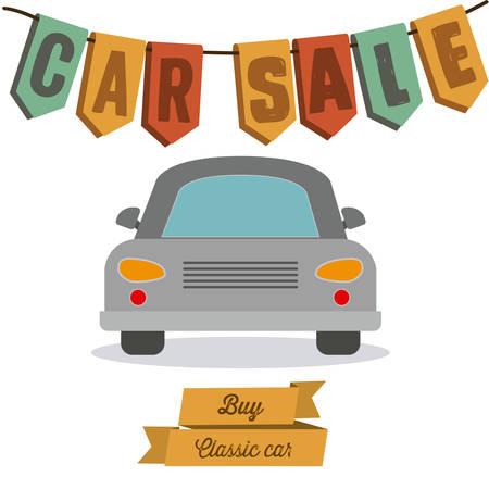 sell car: Buy a Car digital design, vector illustration eps 10