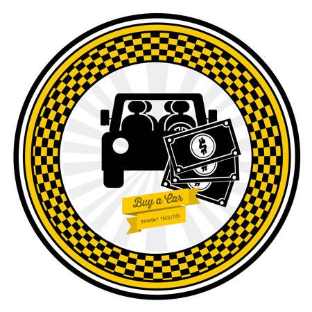 renting: Buy a Car digital design, vector illustration eps 10
