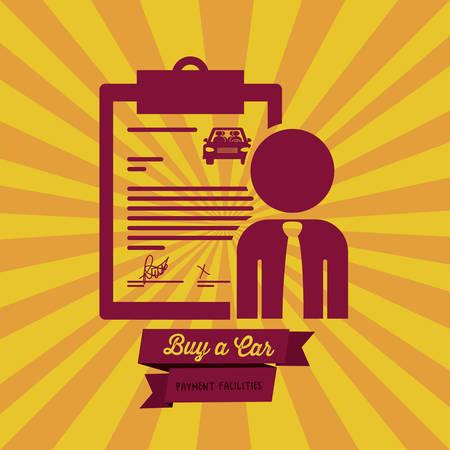 image consultant: Buy a Car digital design, vector illustration eps 10