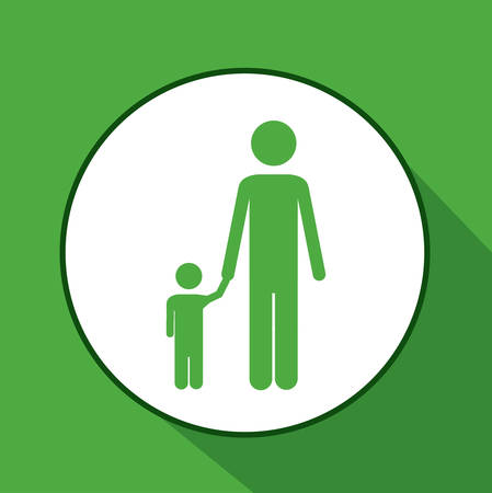 dad son: Family digital design, vector illustration eps 10