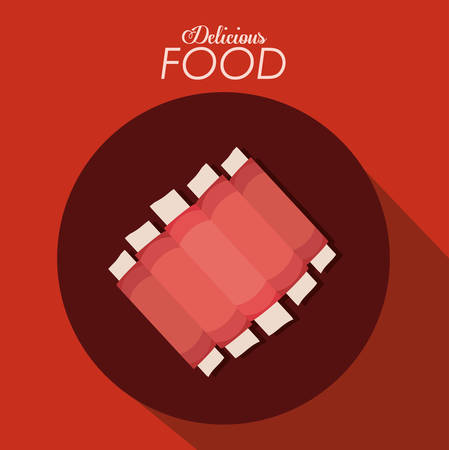 pork chop: Food digital design