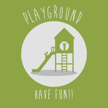 niños en recreo: Diseño digital Parque infantil, ilustración vectorial eps 10