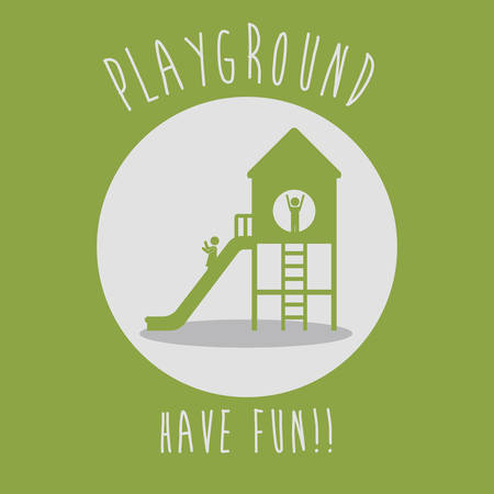 playground equipment: Playground digital design, vector illustration eps 10 Illustration