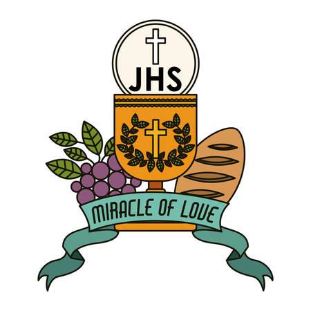 congregation: Catholic digital design, vector illustration eps 10