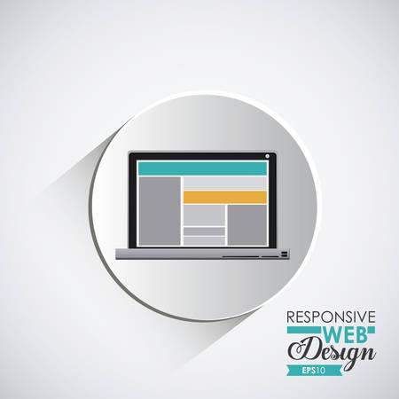 responsive design: Responsive Web Design digital design, vector illustration eps 10