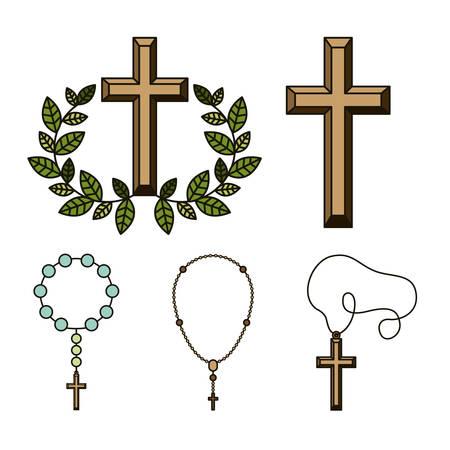 confirmacion: Diseño digital católica, ilustración vectorial eps 10