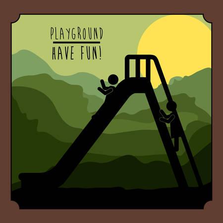 kids playground: Playground digital design, vector illustration eps 10 Illustration