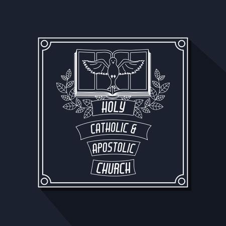 Catholic digital design, vector illustration eps 10