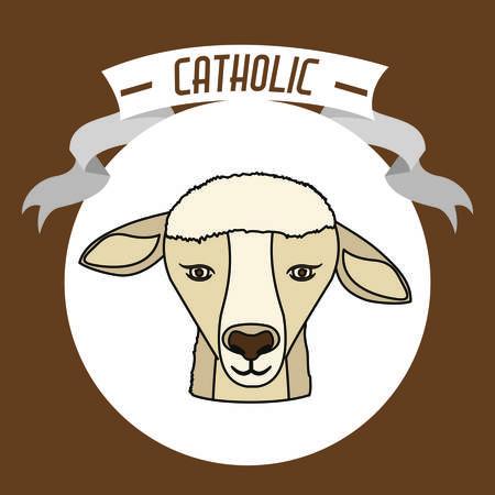 sanctuaries: Catholic digital design, vector illustration
