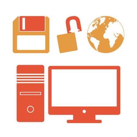 digital: Technology digital design, vector illustration Illustration