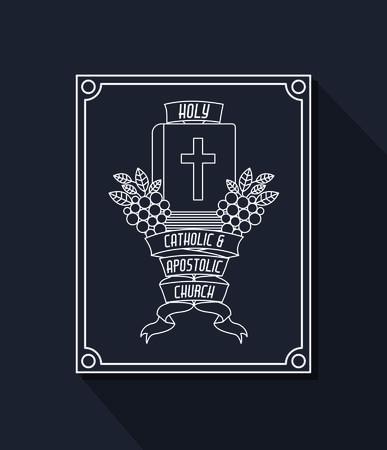 congregation: Catholic digital design, vector illustration