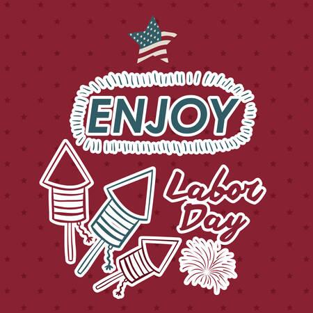 labor: Retro Labor day digital design, vector illustration eps 10