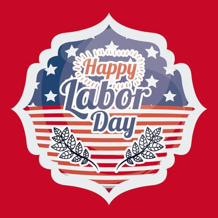 labor day: Labor day digital design, vector illustration eps 10