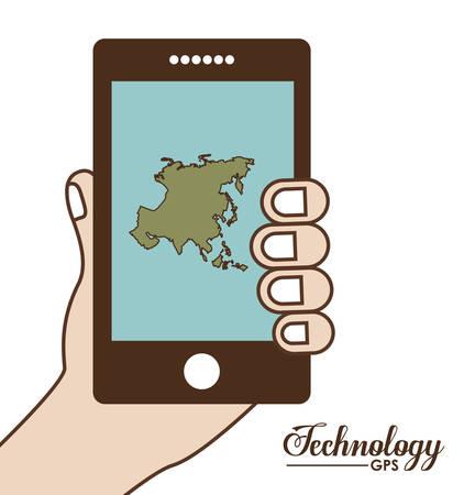 gps device: Technology digital design, vector illustration eps 10