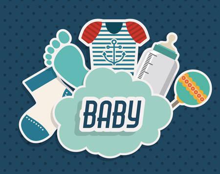 Baby Shower design, vector illustration eps 10 Vettoriali