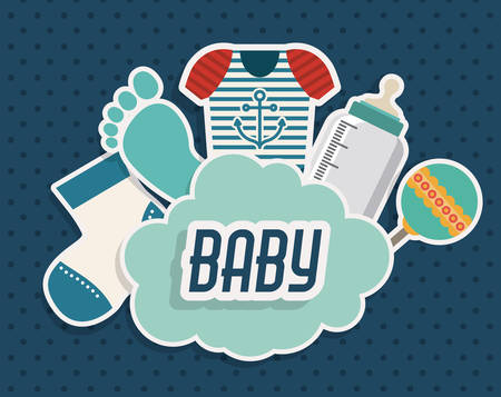 Baby Shower design, vector illustration eps 10 Illustration