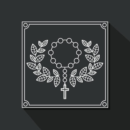 congregation: Catholic digital design, vector illustration eps 10