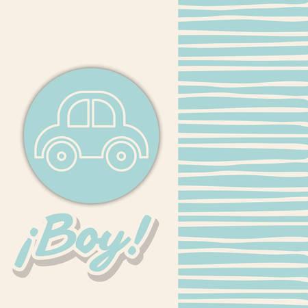 Baby Shower design, vector illustration eps 10 Illustration